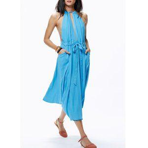 Free People Spring Love Drape Dress Blue Rain